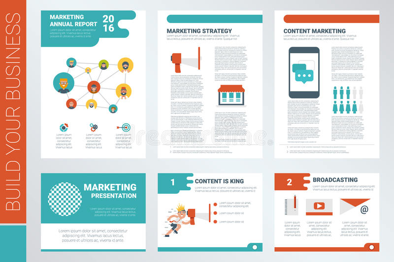 Content Marketing Report Book Cover And Presentation Template Stock