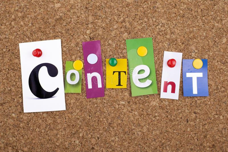 Content Marketing seo concept. Content marketing concept words texts royalty free stock photo