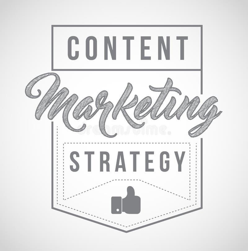 content marketing strategy sign stamp seal illustration design royalty free illustration