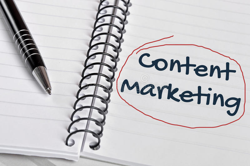 Content Marketing word stock photography