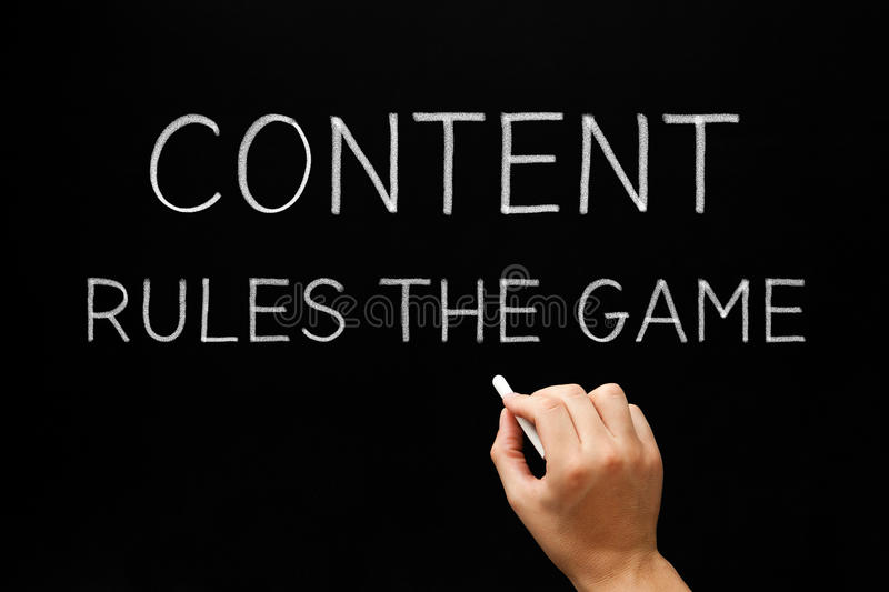 Content Rules The Game stock photo