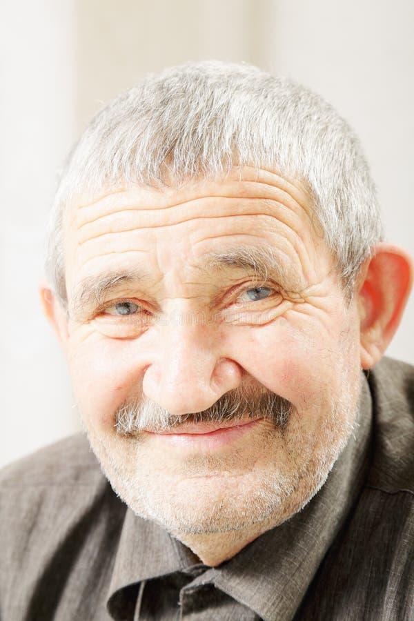 Content senior man stock images