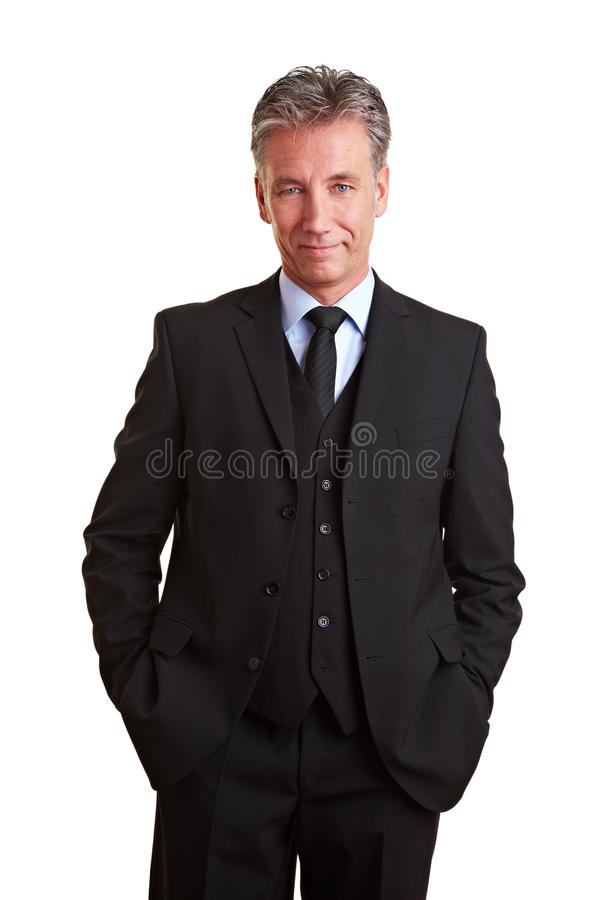 Content senior manager in a suit stock photography