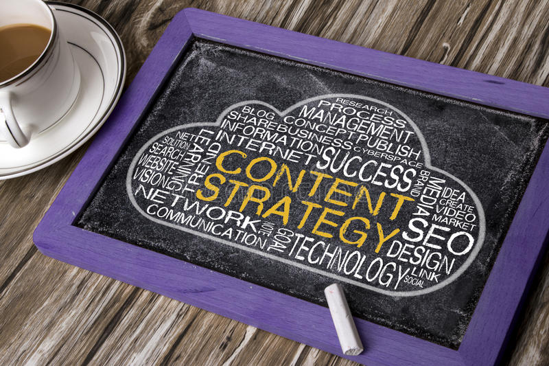Content strategy word cloud stock photos