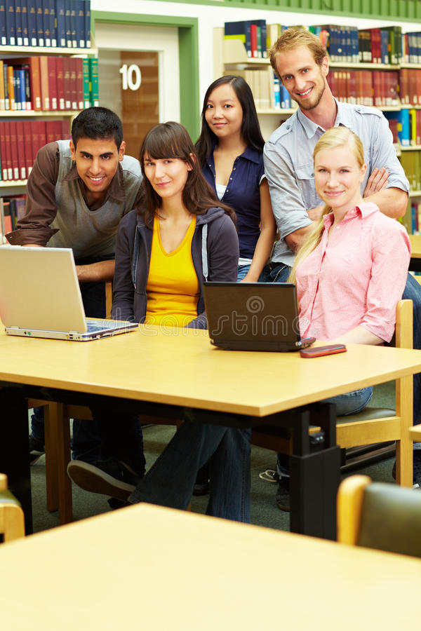Content students royalty free stock image