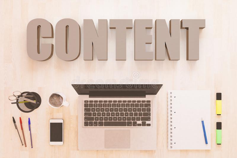 Content stock illustration