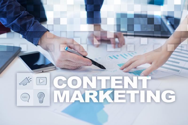 Content text on virtual screen. Business technology and internet concept. Content text on virtual screen. Business technology and internet concept royalty free stock photography