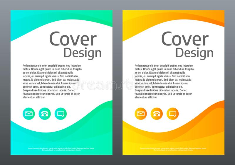 Content vektorbakgrund för presentation Den ljusa lutningen vinkar på vit bakgrund Räkningsmall med färglinjer idérik sammansättn royaltyfri illustrationer