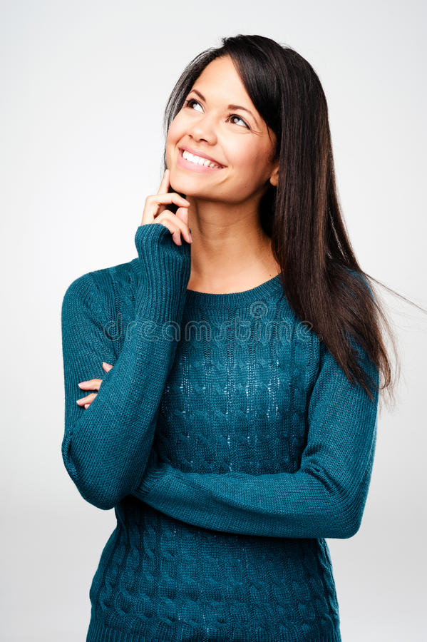 Download Content woman stock image. Image of cute, lifestyle, happy - 27424149