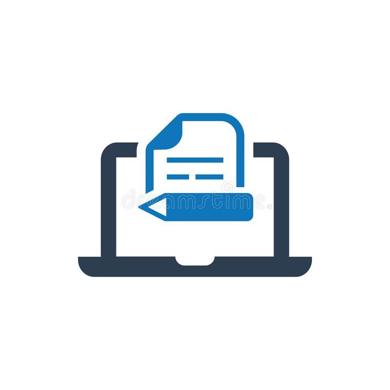 Content writing Icon vector illustration