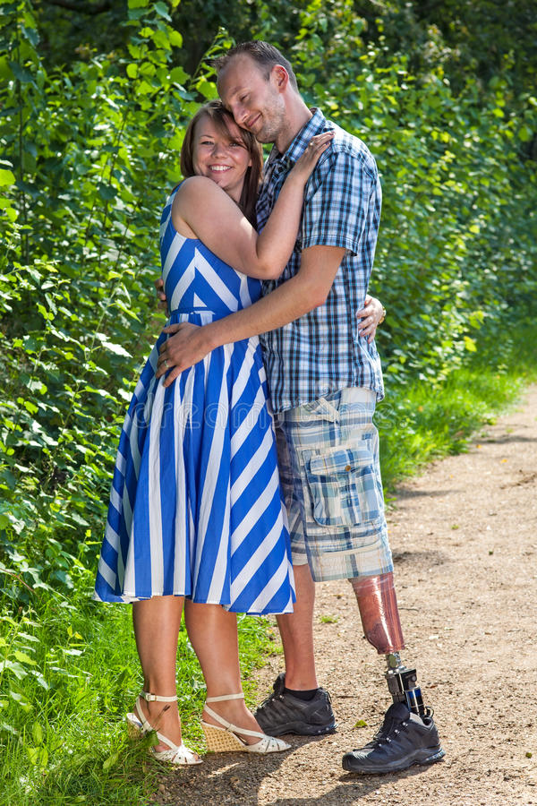 Contented loving couple royalty free stock image