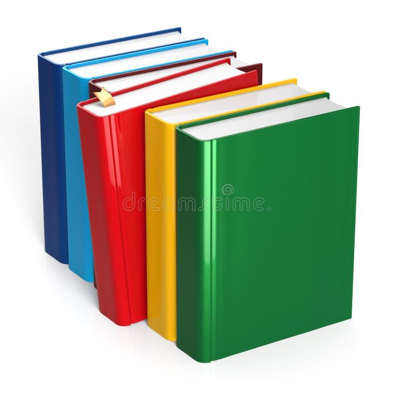 Contenuto rosso di selezione variopinto del manuale del segnalibro di fila dei libri illustrazione di stock