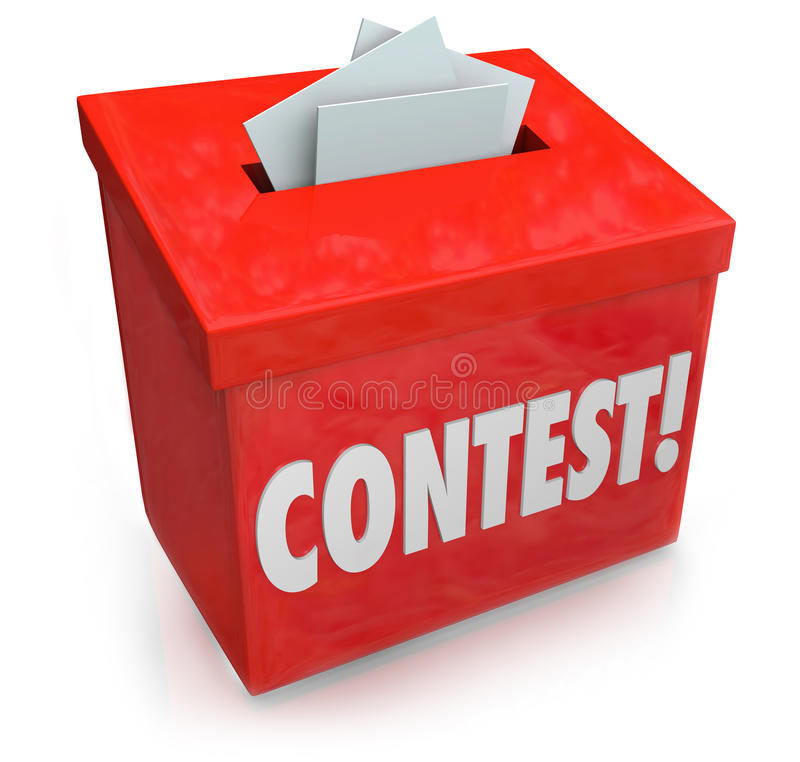 Contest Entry Form Box Enter Win Drawing Raffle Prize royalty free illustration
