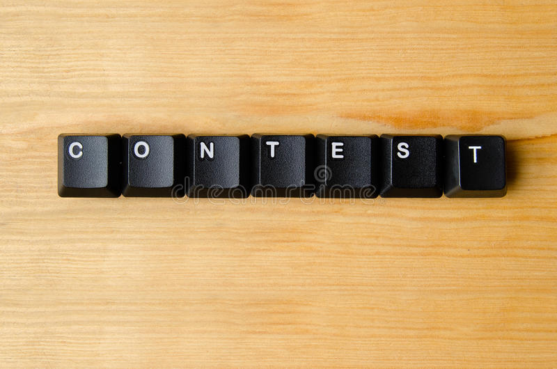 Contest word. With keyboard buttons royalty free stock photo