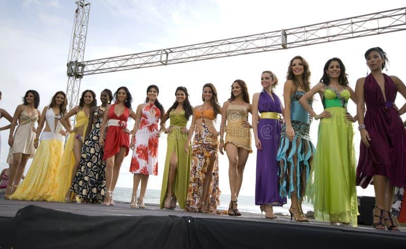 Contestants 2008 de Mlle Equateur photo stock