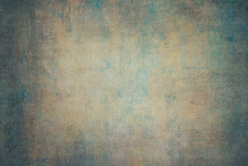 Contesti dipinti a mano della tela arancio del turchese fotografia stock