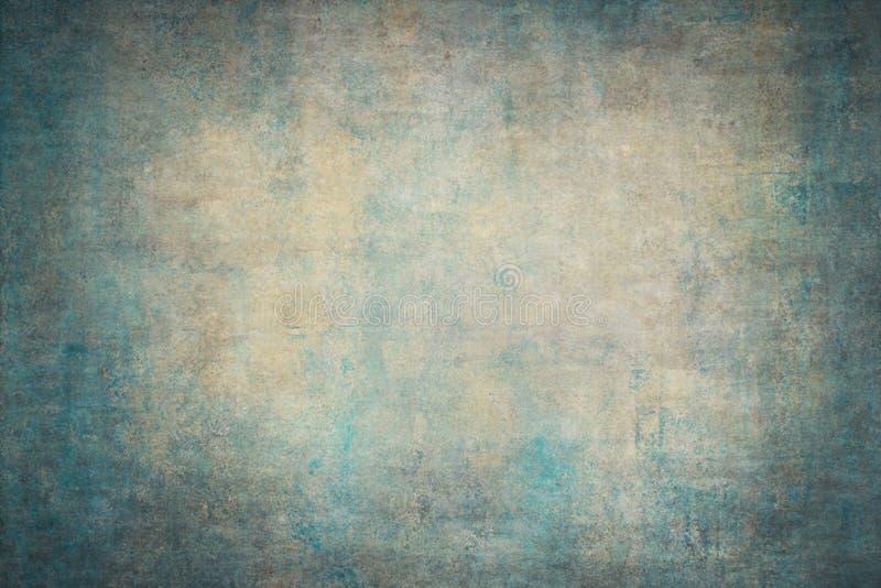 Contesti dipinti a mano della tela gialla del turchese fotografia stock libera da diritti
