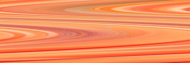 Contesto arancio panoramico dell'estratto Bello fondo con le linee ondulate fotografie stock
