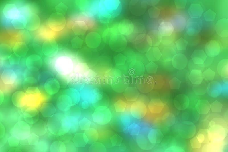 Contesto astratto di nuova tecnologia e di affari Tecnologia futuristica moderna verde variopinta dell'estratto e fondo di affari fotografia stock