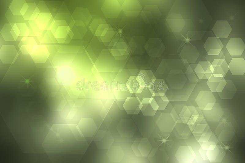 Contesto astratto di nuova tecnologia e di affari Tecnologia futuristica moderna verde variopinta dell'estratto e fondo di affari illustrazione di stock