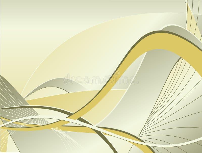 Contesto astratto di vettore con le righe curve illustrazione vettoriale
