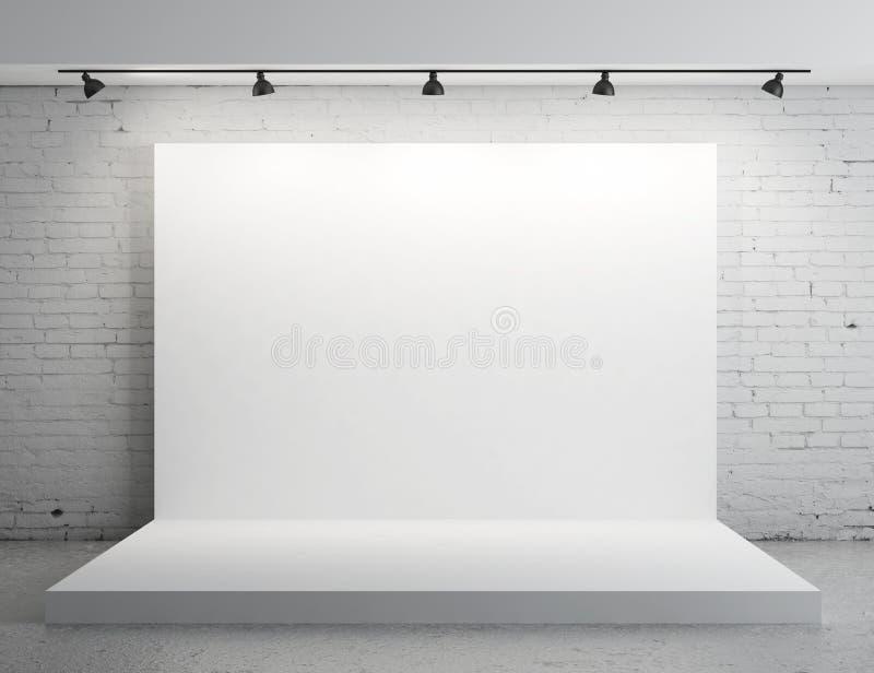 Contesto bianco illustrazione di stock