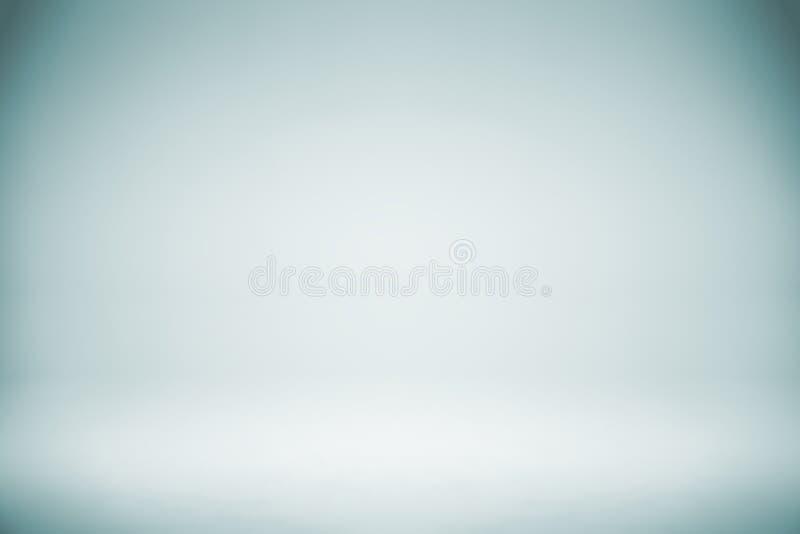 Contesto bianco blu vuoto dello studio, estratto, fondo grigio di pendenza, colore d'annata fotografie stock libere da diritti