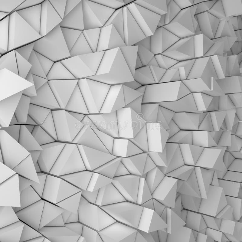 Contesto bianco dei triangoli illustrazione di stock