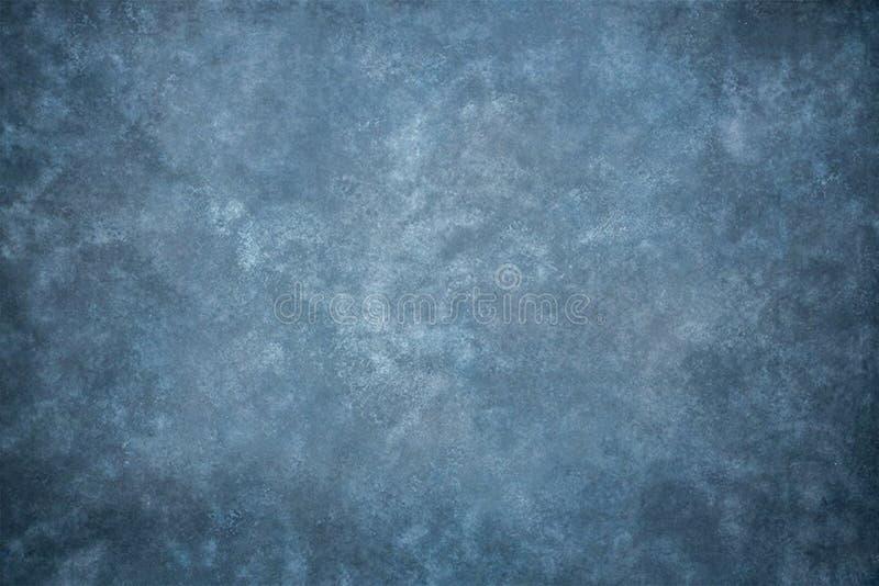 Contesto blu dello studio del panno del tessuto della mussola o della tela fotografia stock libera da diritti