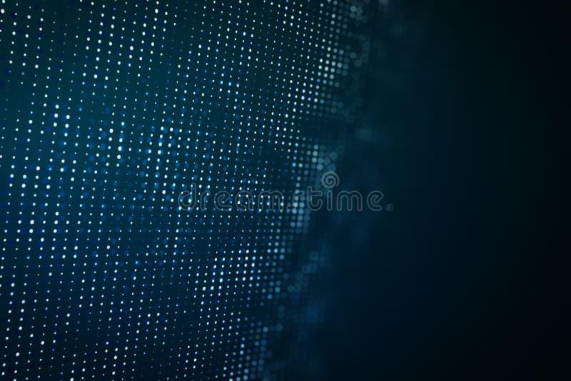 Contesto blu di Digital illustrazione vettoriale