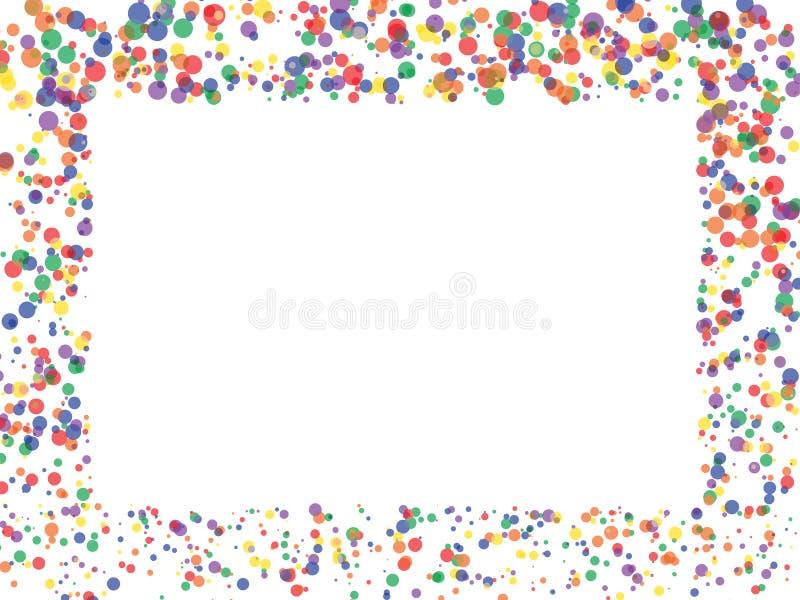 Contesto dei coriandoli dei cerchi illustrazione di stock