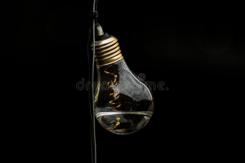 Contesto del nero della lampadina dell'inondazione di Manchester fotografie stock libere da diritti