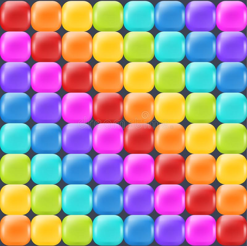 Contesto dell'arcobaleno con i quadrati lucidi realistici Contesto astratto di divertimento per la decorazione e il selebration royalty illustrazione gratis
