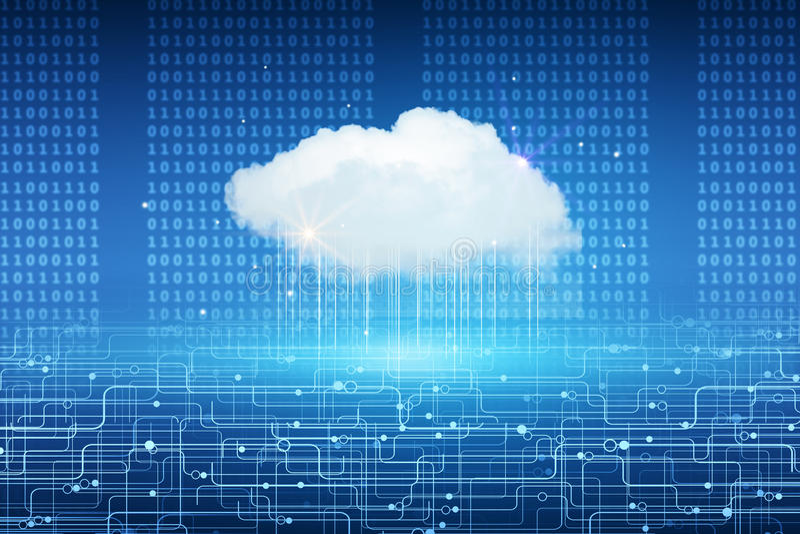 Contesto di calcolo della nuvola illustrazione vettoriale