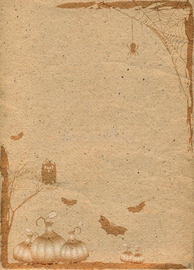 Contesto di carta stilizzato per Halloween illustrazione vettoriale