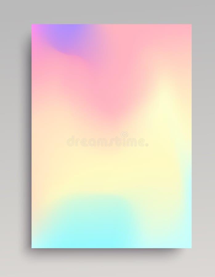 Contesto di pendenza colorato liquido illustrazione di stock