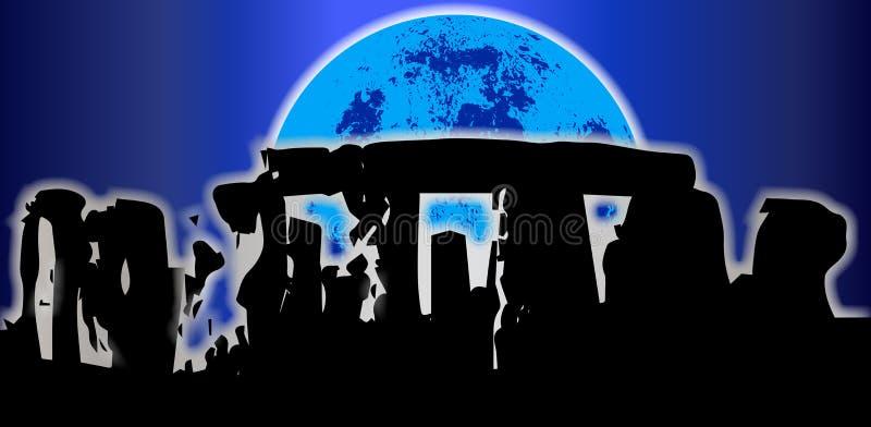 Contesto di solstizio di Stonehenge royalty illustrazione gratis