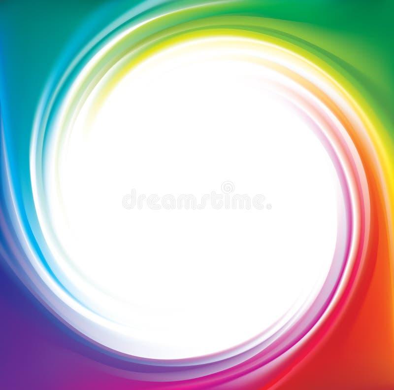 Contesto di vettore dello spettro a spirale dell'arcobaleno illustrazione vettoriale