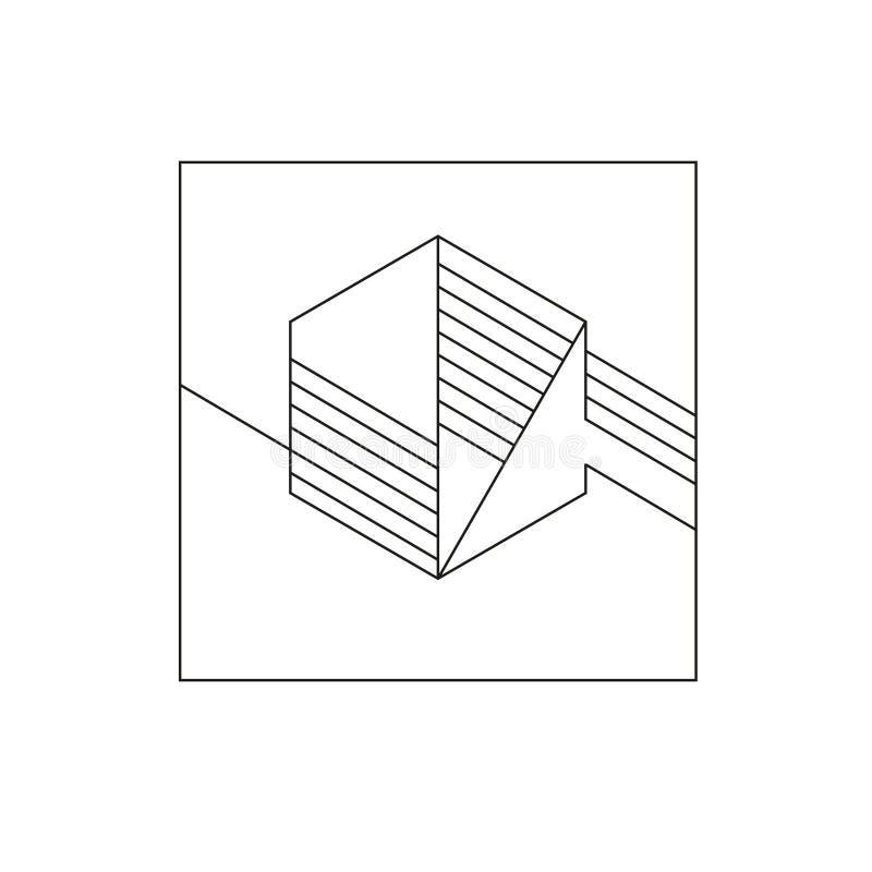 Contesto geometrico diagonale di vettore royalty illustrazione gratis