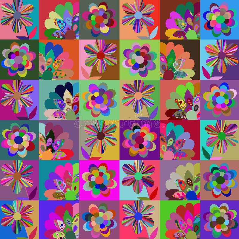 Contesto multicolore astratto della rappezzatura di fantasia, immagine sveglia illustrazione vettoriale