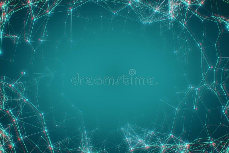 Contesto poligonale blu illustrazione di stock