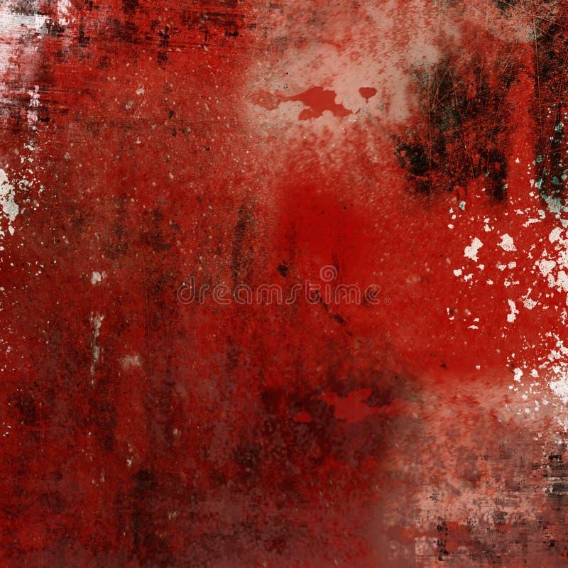 Contesto rosso del grunge illustrazione di stock