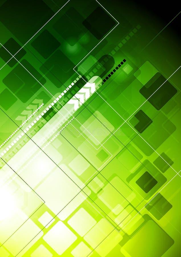 Contesto verde di tecnologia illustrazione vettoriale