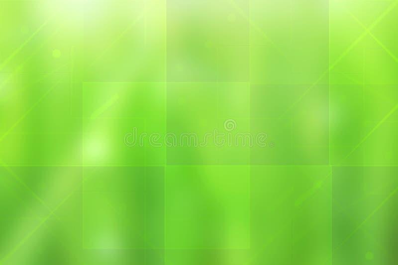 Contesto verde di tecnologia Tecnologia futuristica moderna verde variopinta dell'estratto e struttura del fondo di affari con mi illustrazione vettoriale