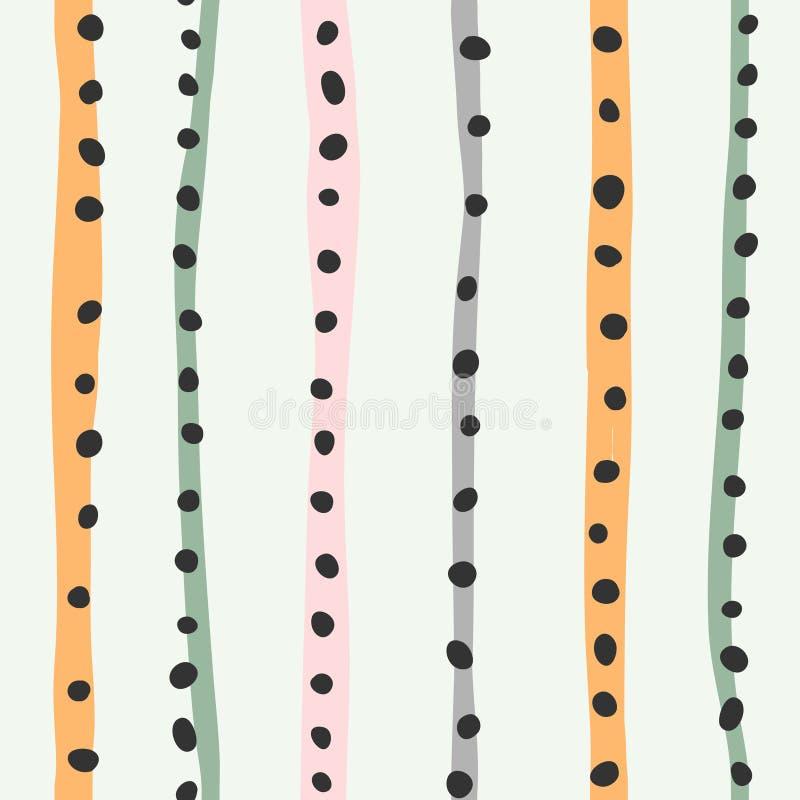 Contexte abstrait contemporain Extrait de ligne et de point coloré, illustration à plat vectorielle à la mode illustration de vecteur