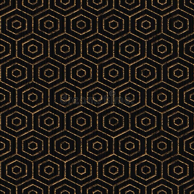 Contexte abstrait Couleur d'or Configuration sans joint illustration de vecteur