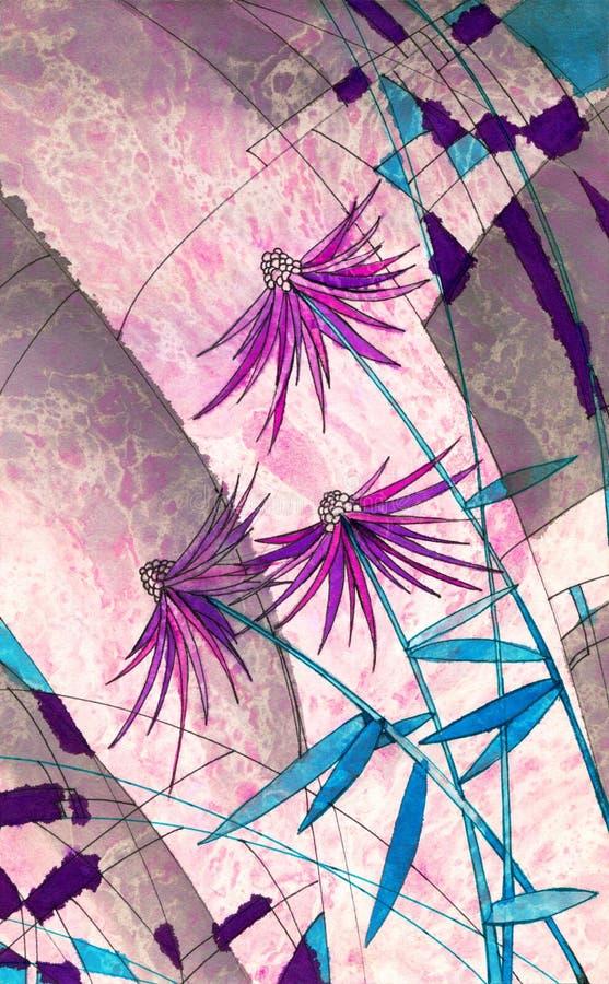 Contexte abstrait de fleurs illustration de vecteur