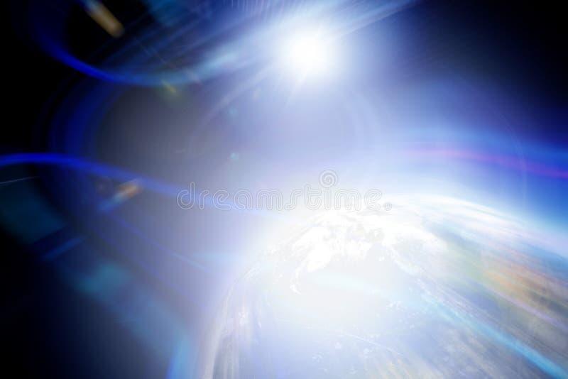 Contexte abstrait de planète illustration de vecteur