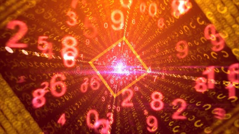 Contexte abstrait des faisceaux de danse des chiffres illustration de vecteur