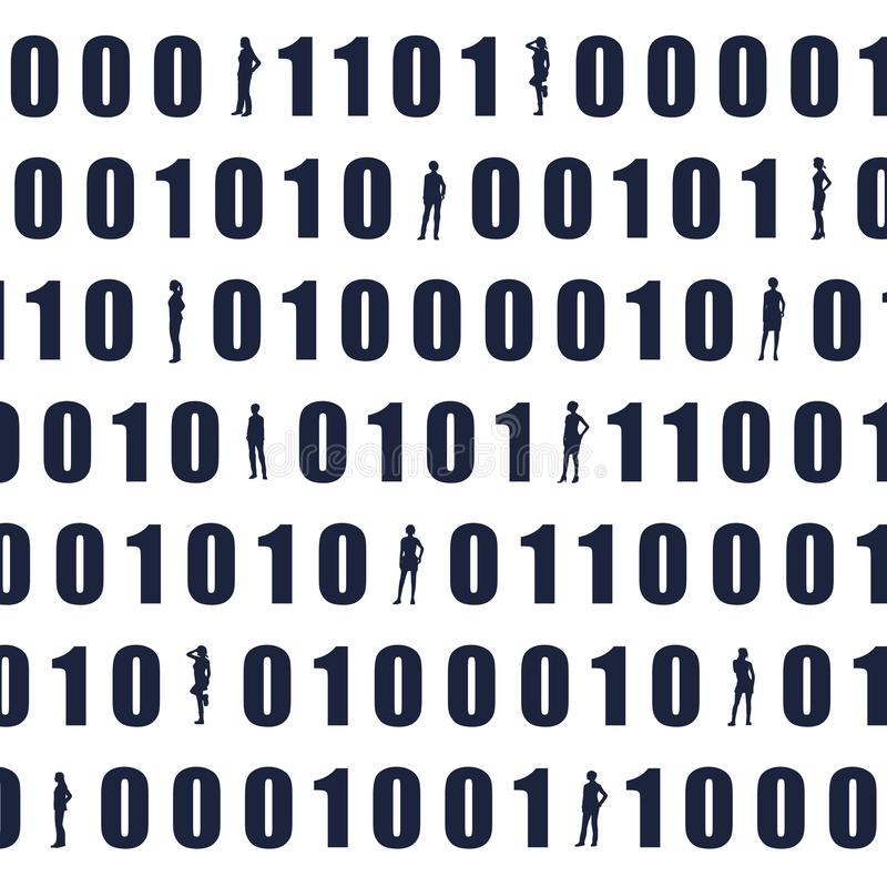 Contexte de code binaire illustration libre de droits